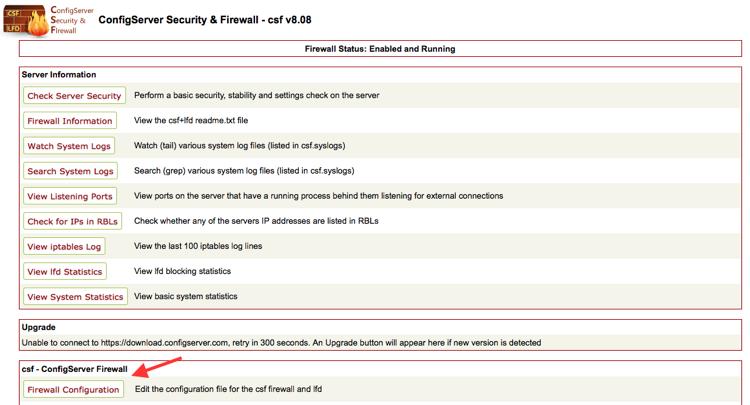 15585020664856 کانفیگ و دستورات مفید فایروال CSF