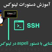 آموزش دستورات لینوکس – آشنایی با دستور aspell