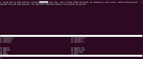 15600601772130 آموزش دستورات لینوکس   آشنایی با دستور aspell